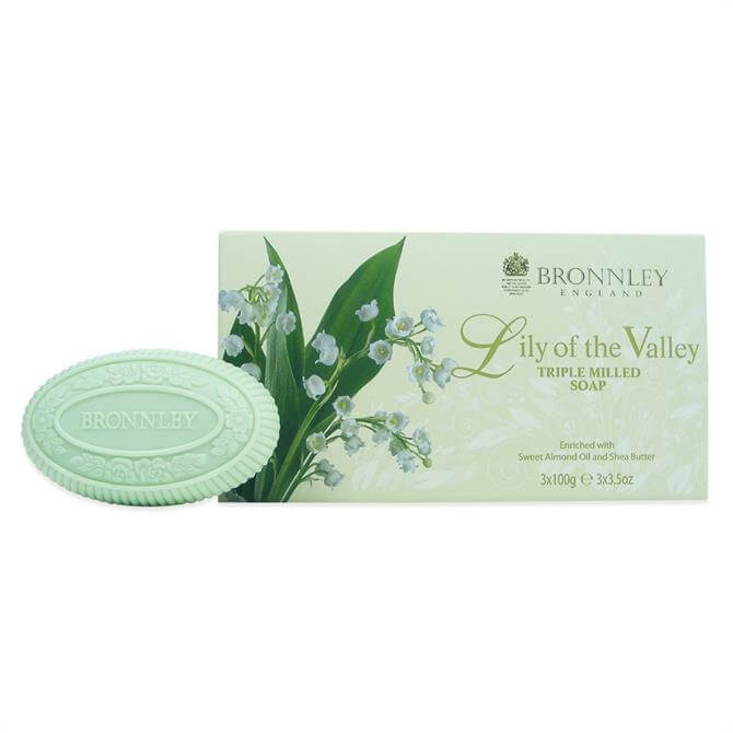Bronnley Lily of the Valley Triple Milled Fine Eng Soap 3X100g
