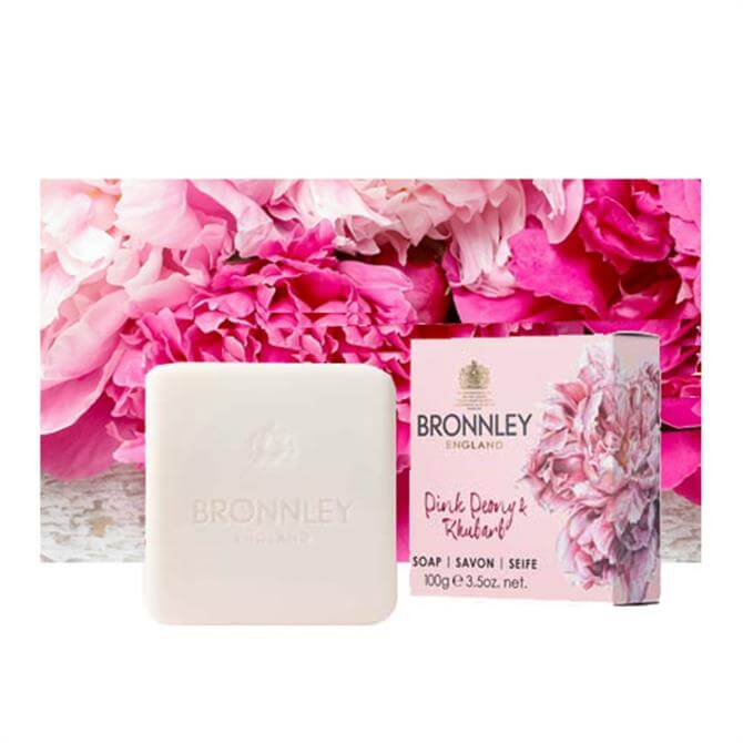 Bronnley RHS 100g Pink Peony and Rhubarb Soap