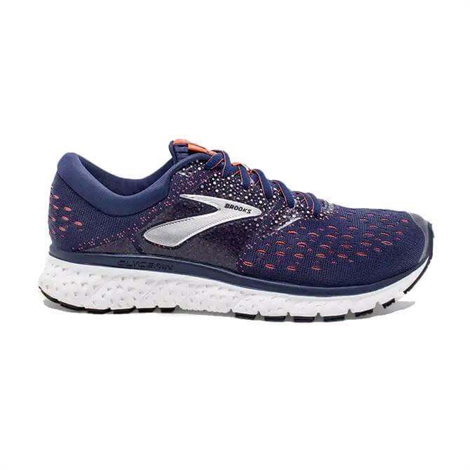 Brooks Women's Glycerin 16 Running Shoe- Navy/Coral/White