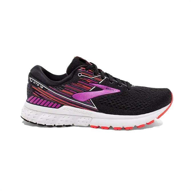 Brooks Women's Adrenaline GTS 19 Running Shoe - Black Purple