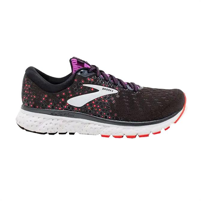 Brooks Women's Glycerin 17 Running Shoe - Black/Fiery Coral