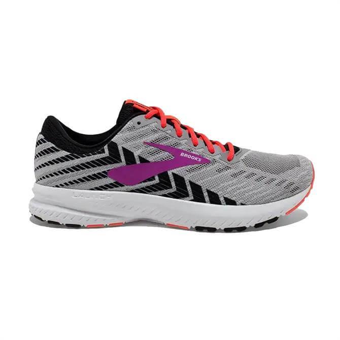 Brooks Women's Launch 6 Running Shoe - Grey/Purple