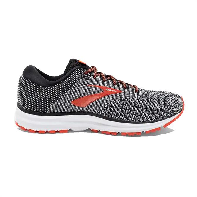 Brooks Men's Revel 2 Running Shoe- Black/Orange