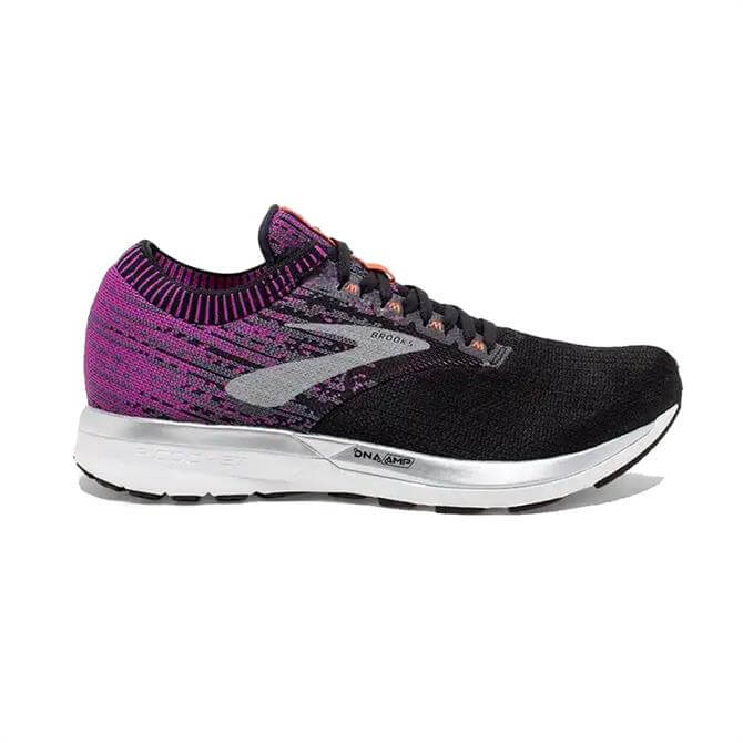 Brooks Women's Ricochet Running Shoes- Black/Purple