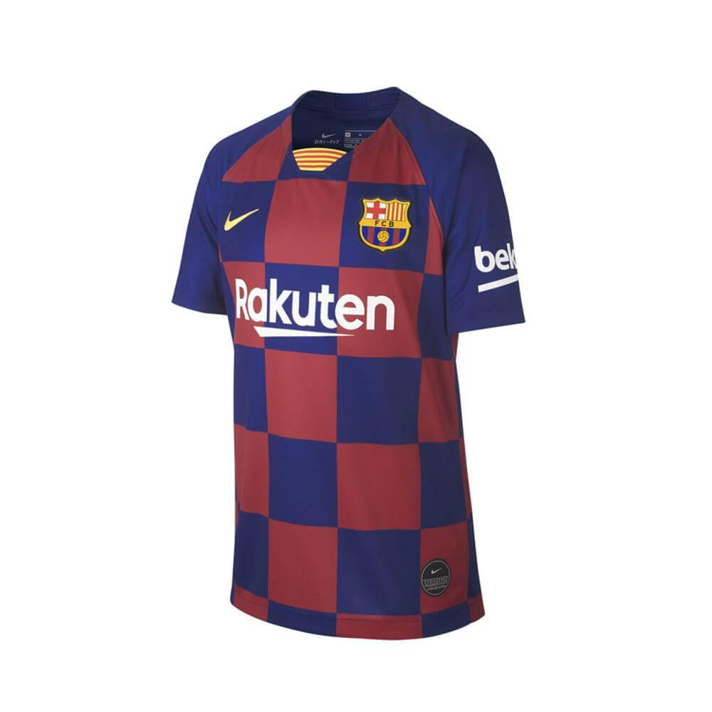 superior quality a6c02 8fa1c Nike Junior FC Barcelona 2019/20 Stadium Home Football Shirt