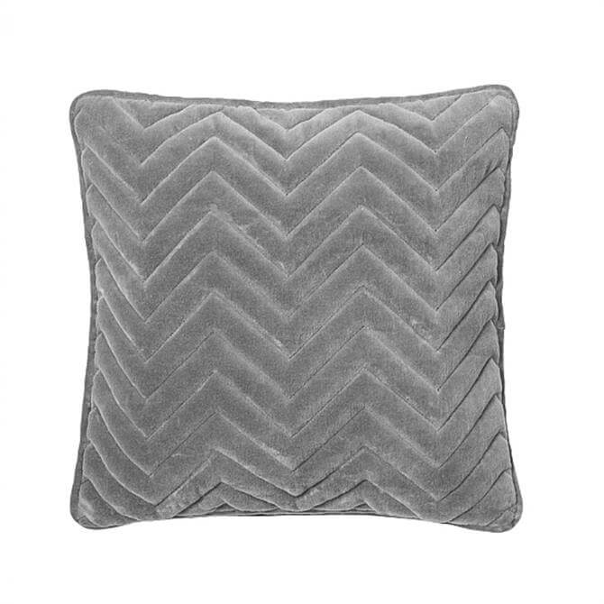 Broste Copenhagen Chevron Smoked Pearl Cushion