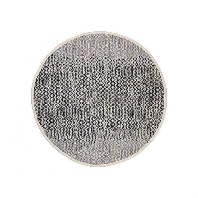 Broste Leather/Cotton Birger Round Rug