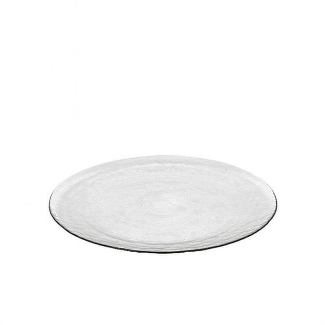 Broste Copenhagen Large Plate 'Hammered' Glass