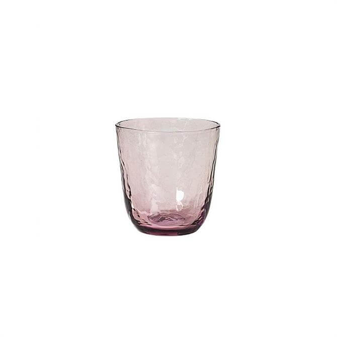 Broste Purple Hammered Glass Tumbler