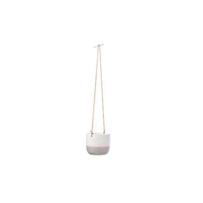 Burgon & Ball Ripple Indoor Hanging Pot - GREY