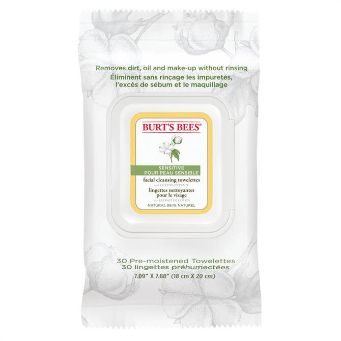 Burts Bees Facial Cleansing Towelettes with Cotton Extract