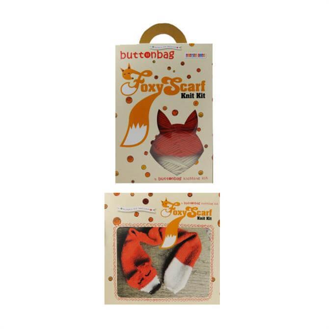 Button Bag Foxy Scarf Knitting Kit