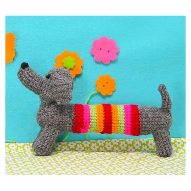 Button Bag Sausage Dog Crochet Kit