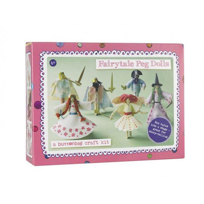 Button Bag Fairytale Peg Dolls Kit