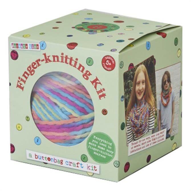 Button Bag Finger Knitting Kit