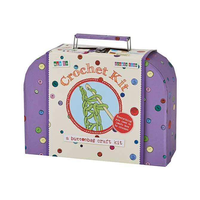 Buttonbag Crochet Suitcase