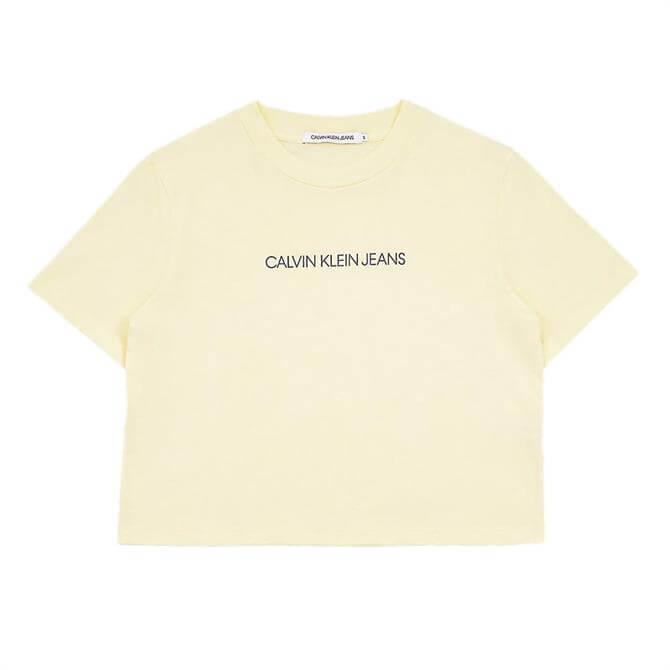Calvin Klein Organic Cotton Cropped T-Shirt