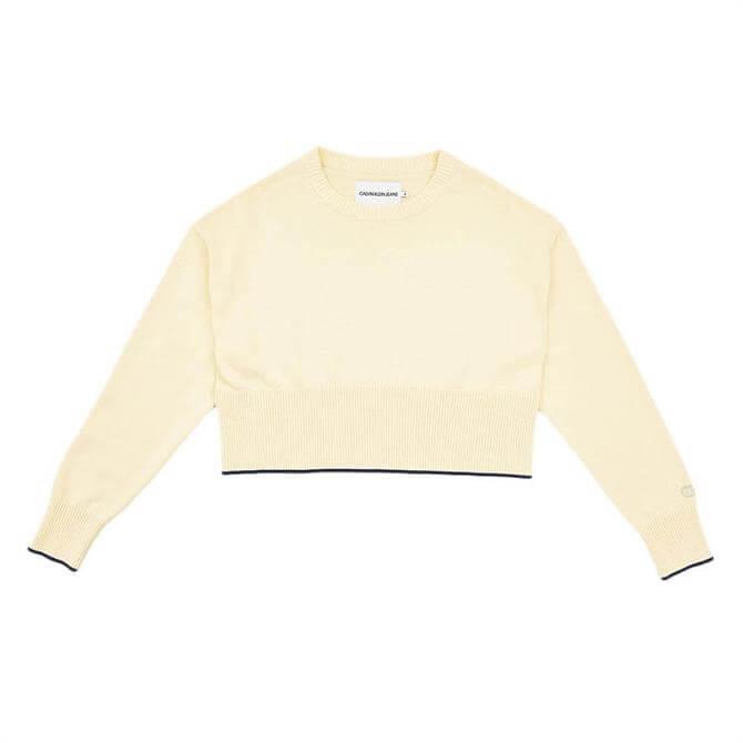 Calvin Klein Cropped Cotton Jumper