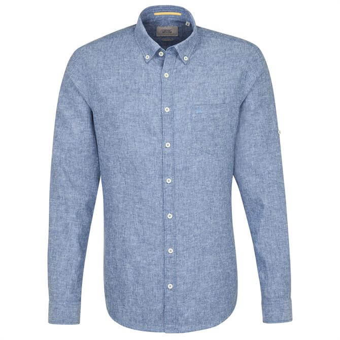 Camel Active Men's Carl BD Blue Summer Shirt