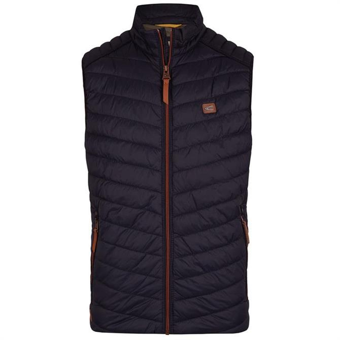Camel Active Mens Chevron Quilted Gilet