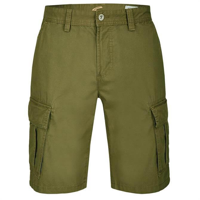 Camel Active Mens Straight Leg Cargo Shorts