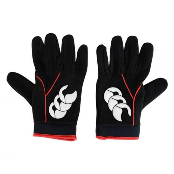 Canterbury Men's Cold Rugby Gloves- Black