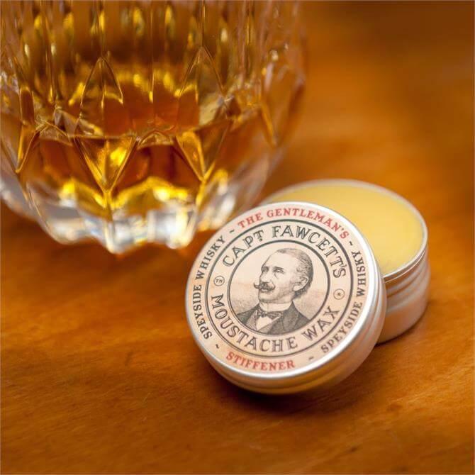 Captain Fawcett Gentleman's Stiffener Malt Whiskey Moustache Wax 15ml