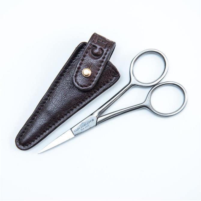 Captain Fawcett Hand-Crafted Grooming Scissors with Leather Pouch