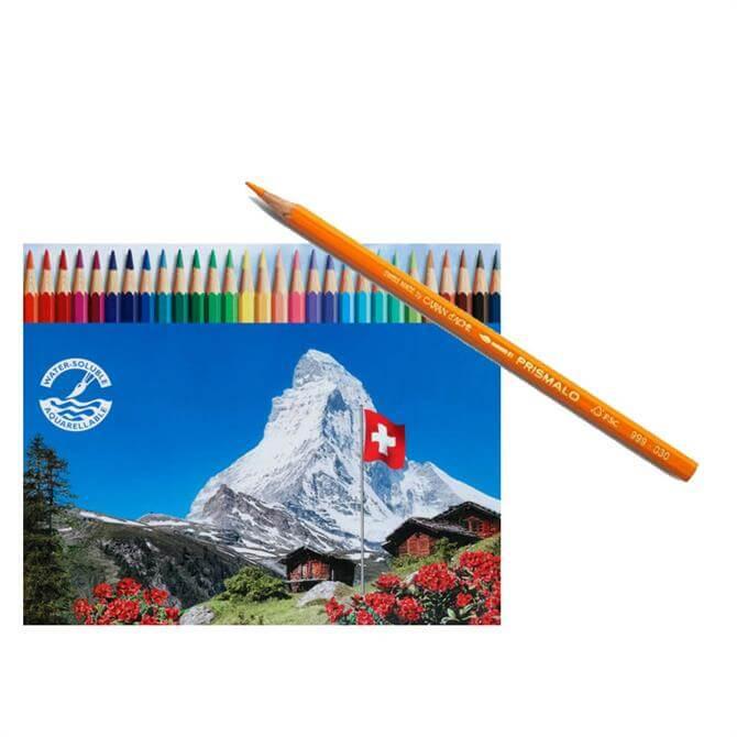 Caran D'Ache Water Colour Prismalo Pencils - Individual/Assorted