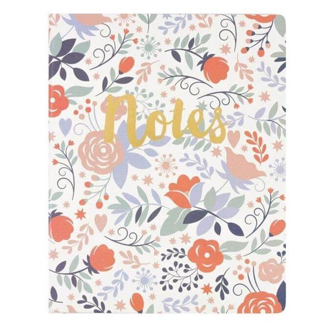Floral Notes Desk Notepad