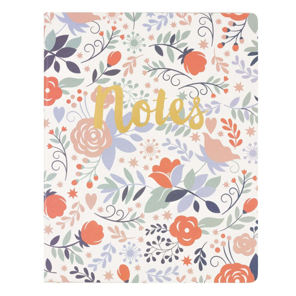 An image of Floral Notes Desk Notepad