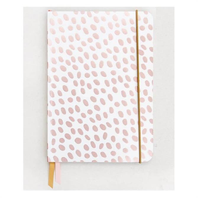 Caroline Gardner Dotty Rose Gold A5 Notebook