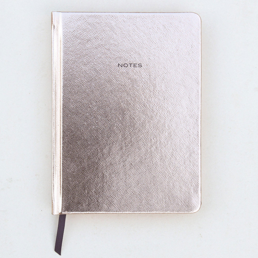 An image of Caroline Gardner Rose Gold Hardback Notebook