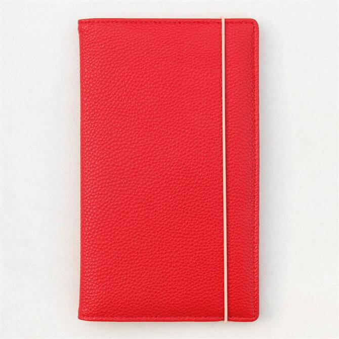 Caroline Gardner Patent Travel Wallet Red
