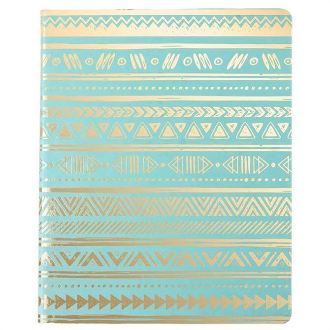 Tribal Desk Notepad Turquoise & Gold