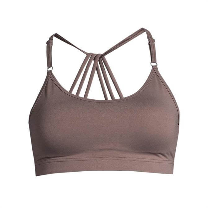 Casall Women's Dashing Grounded Brown Sports Bra