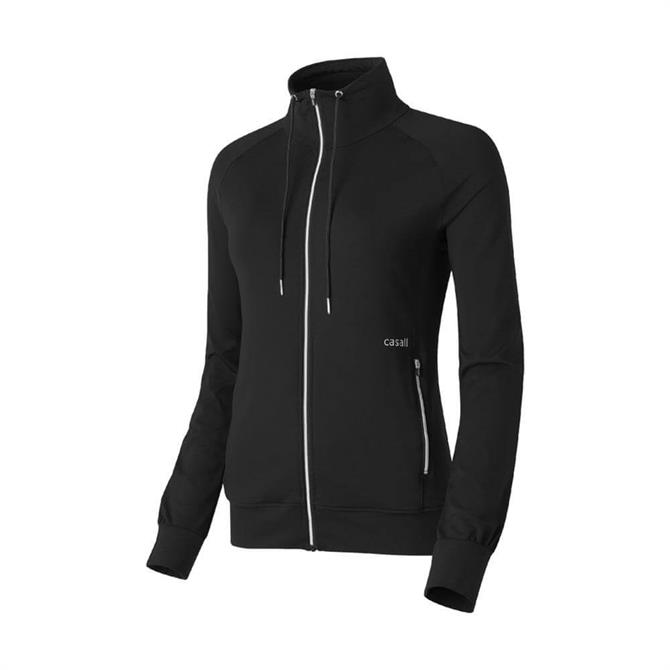 Casall Women's Essential Yoga Fitness Jacket - Black
