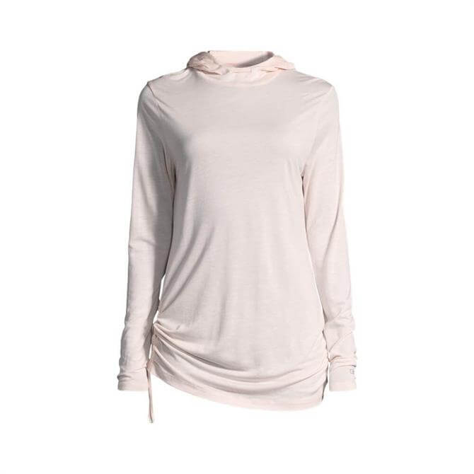 Casall Women's Gathered Side Hood- Icing Pink