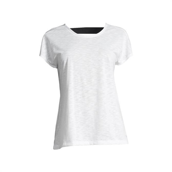 Casall Women's Raw Elastic Fitness T-Shirt- White
