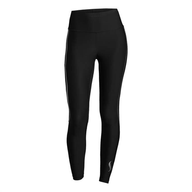 Casall Women's Sculpture High Waist Fitness Tight- Black Silver