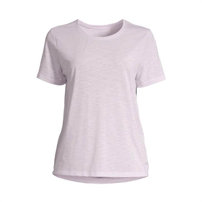 Casall Women's Textured Loose Fitness Tee - Lavender