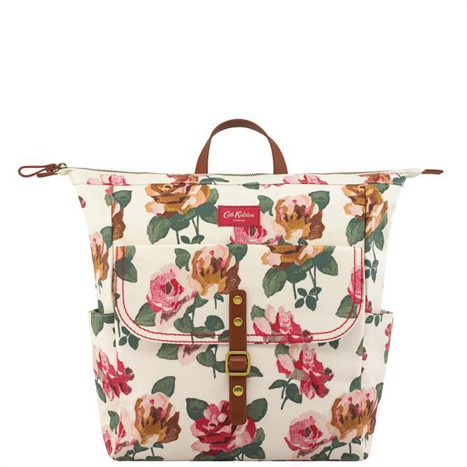 Cath Kidston Chiswick Rose Matt Canvas Backpack