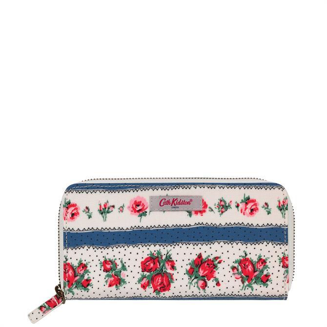 Cath Kidston Ribbon Rose Continental Zip Wallet