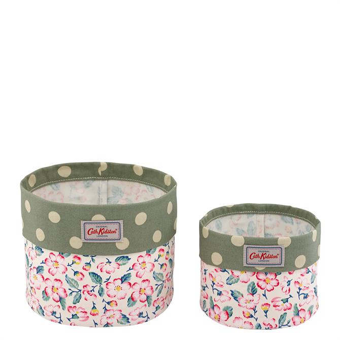 Cath Kidston Climbing Blossom Set of 2 Storage Baskets