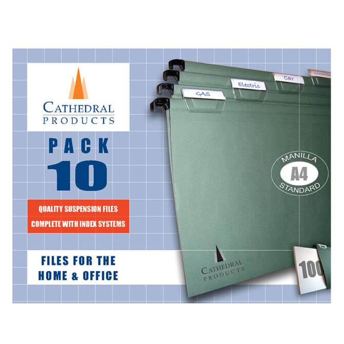 Cathedral A4 Suspension Files (Pack of 10)