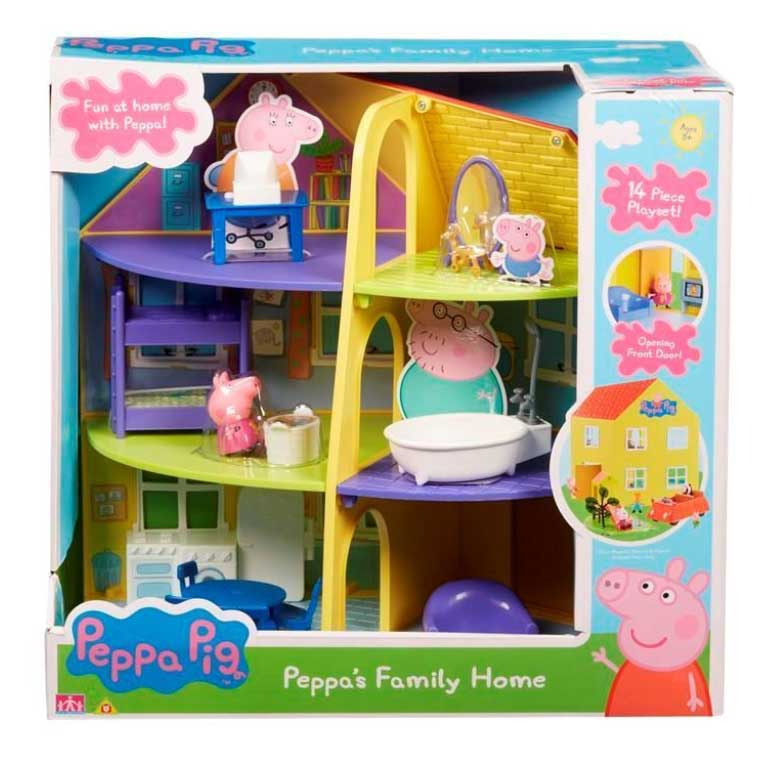 An image of Character Options Peppa Pig Family Home