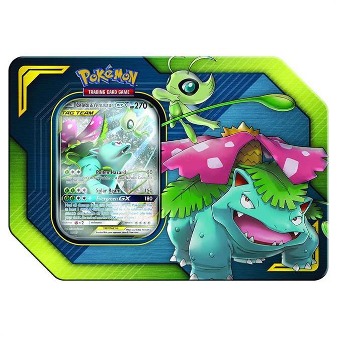 Pokémon Celebi & Venusaur GX Tag Team Tin