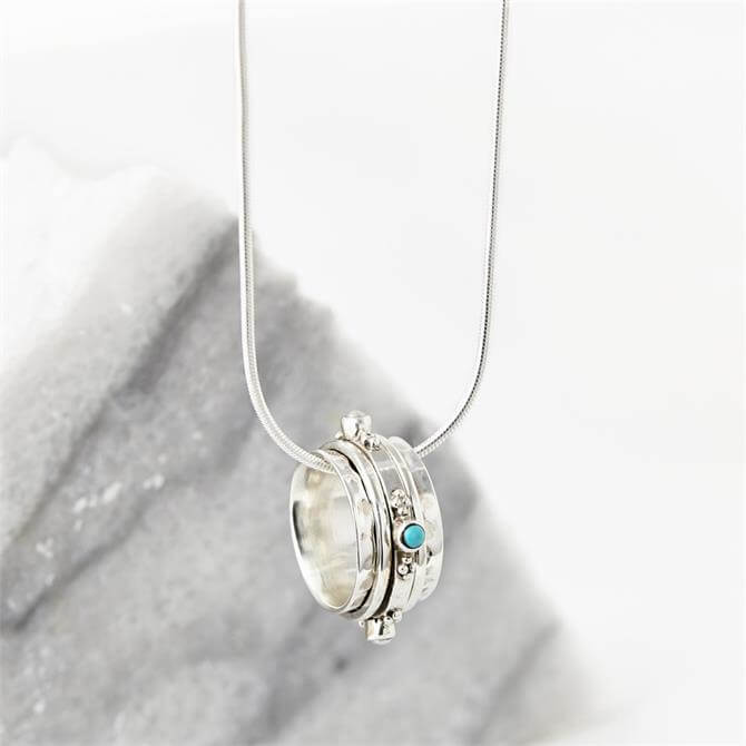 Charlotte's Web Silver Rajput Spinning Necklace