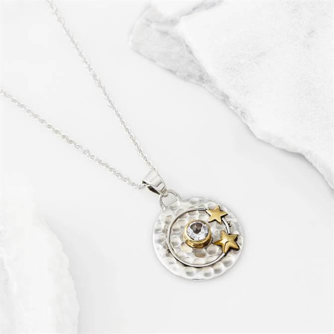 Charlotte's Web Celestial Moon Pendant