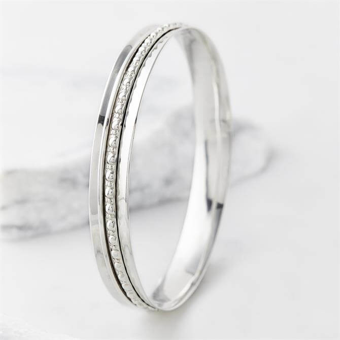 Charlotte's Web Maharani Silver Spinning Bangle